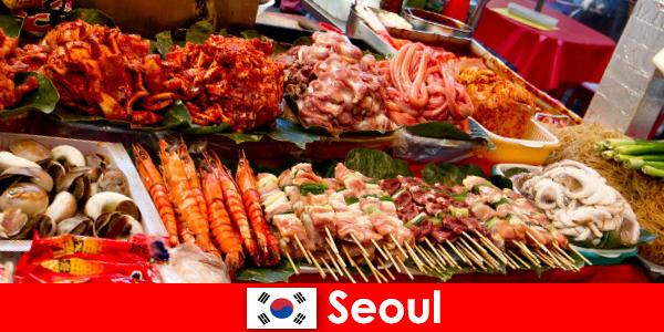 Seoul is ook beroemd onder reizigers vanwege het heerlijke en creatieve straatvoedsel