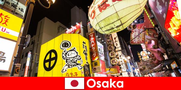 Komisch entertainment is altijd het hoofdthema voor buitenlanders in Osaka